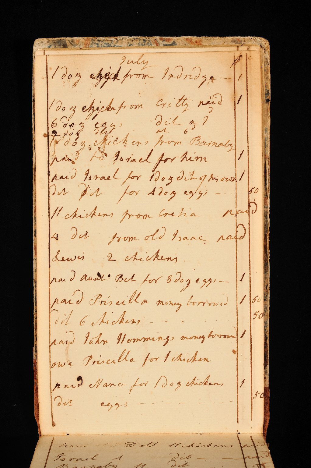 Account book, page 13