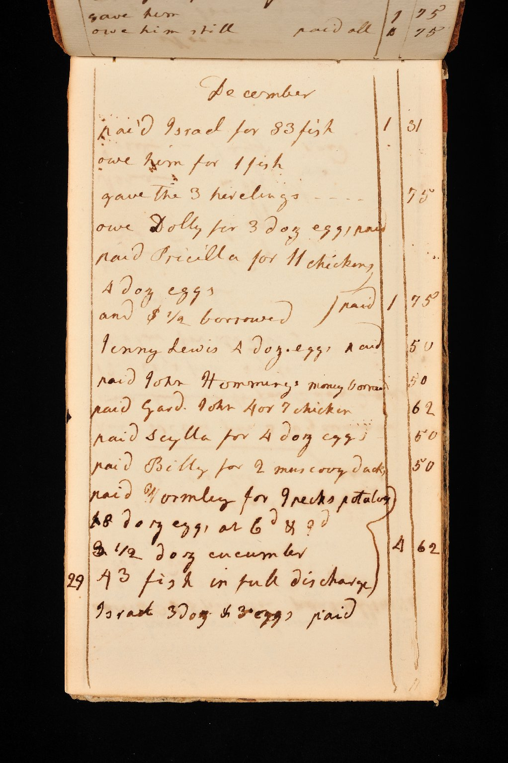 Account book, page 20