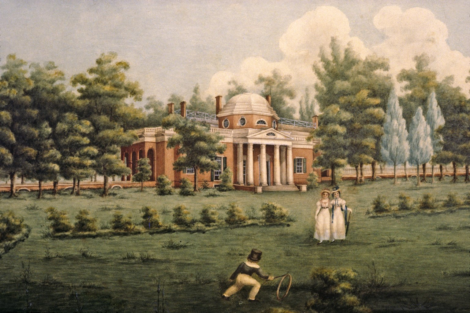 Monticello, West Lawn and Gardens