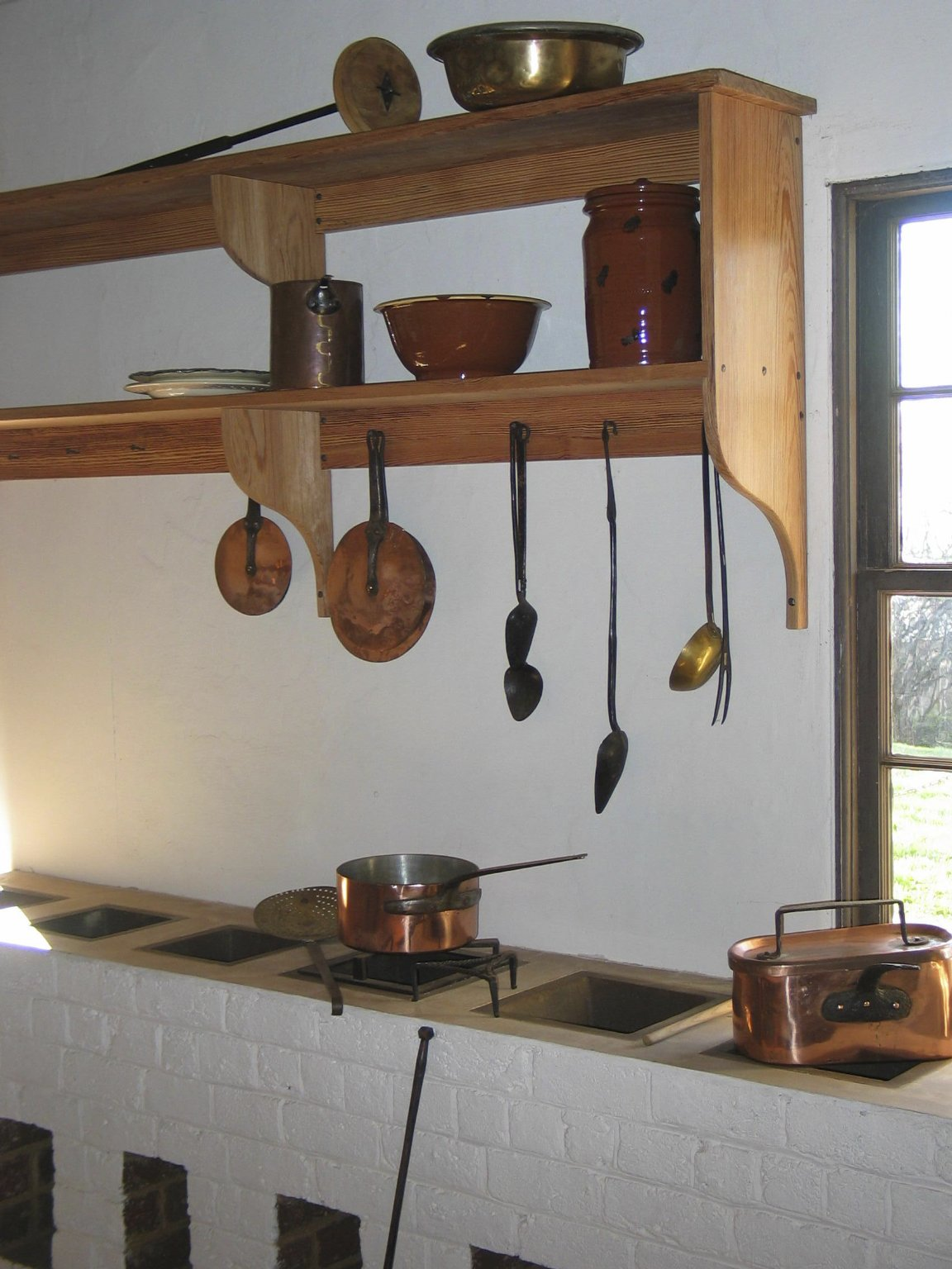 Monticello, kitchen, post 2008 restoration