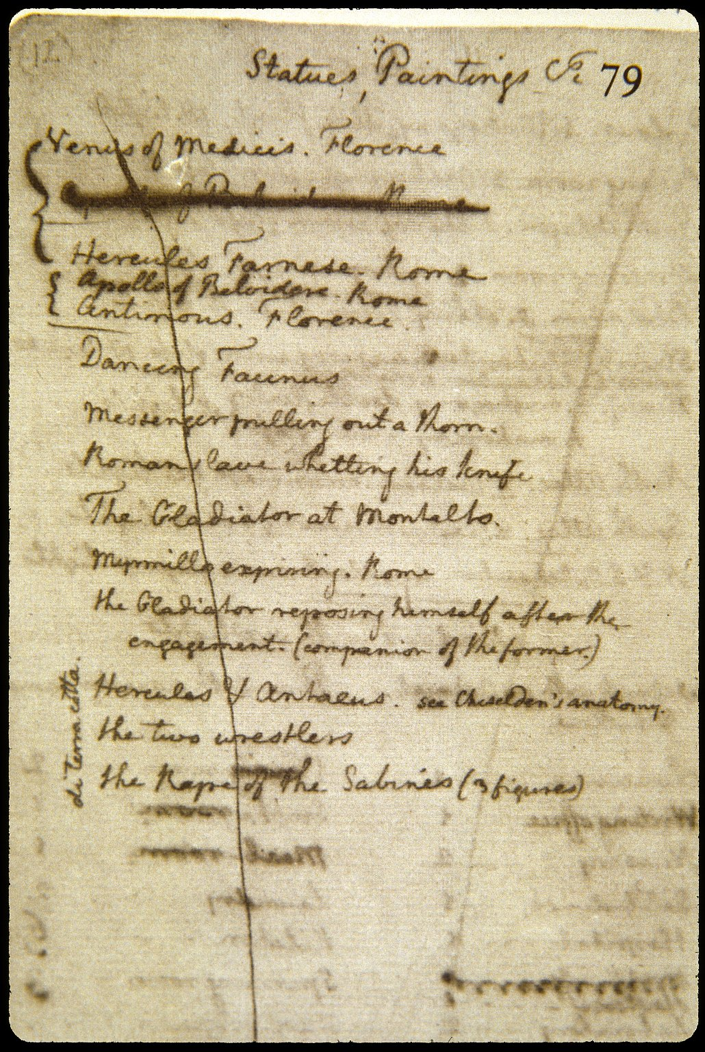 Monticello, building notebook, page 12 of 52