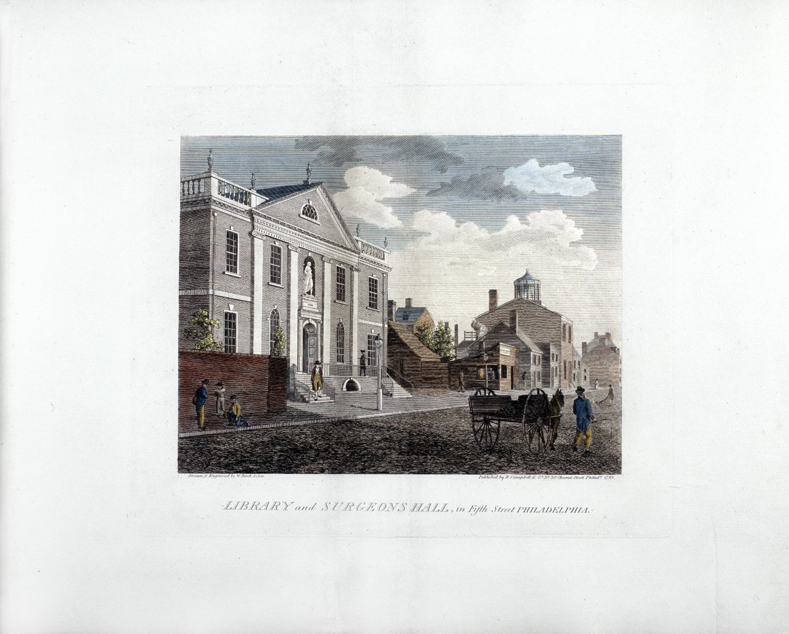 Library and Surgeons Hall in Fifth Street, Philadelphia