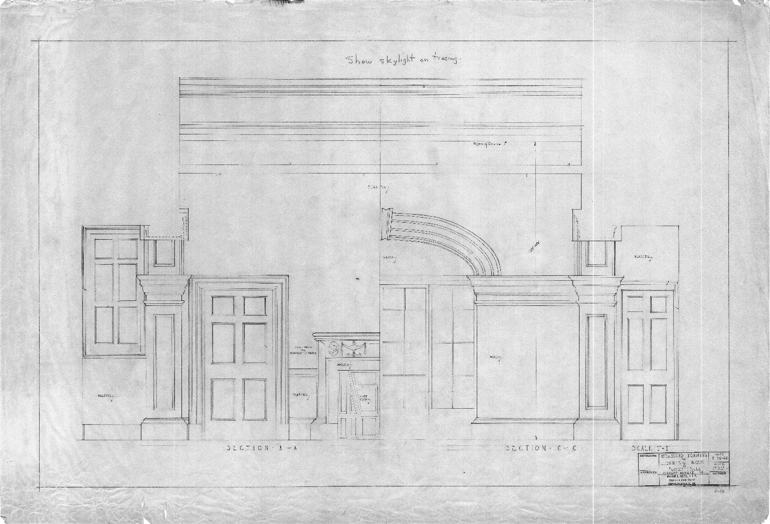 Monticello, Dining Room measured drawings
