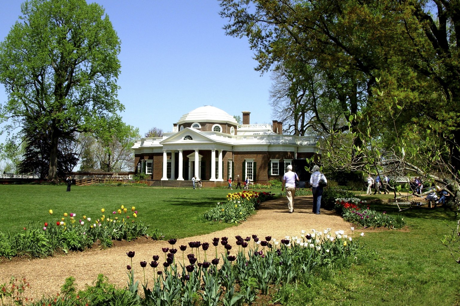 Monticello, west elevation in early summer